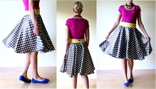"Circle Skirt Pattern (c) www.danamadeit.com It makes me think of a ""Poodle"