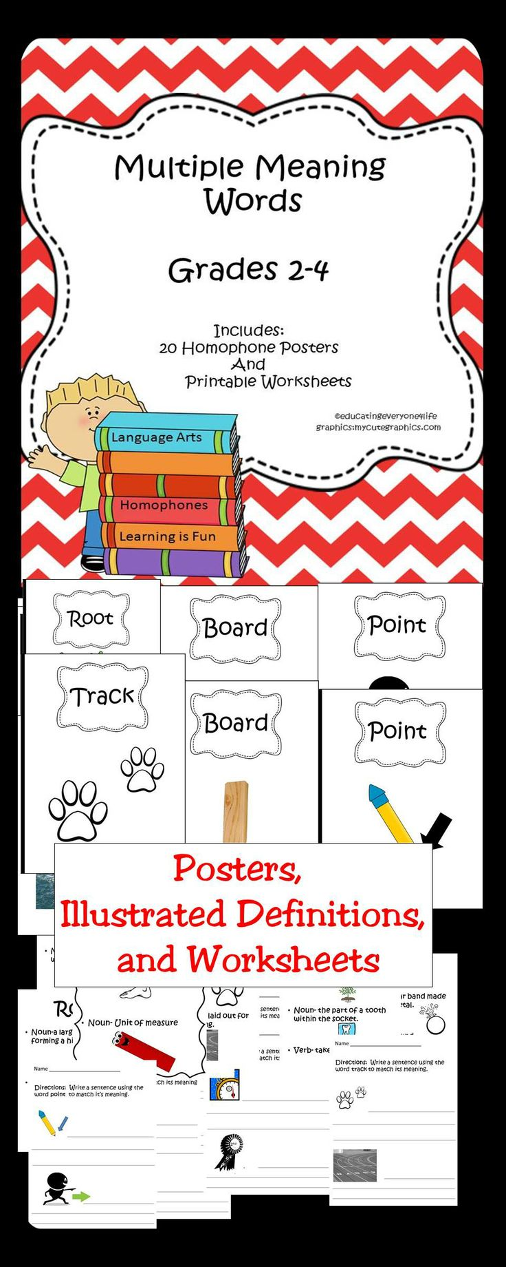 70 best multiple meaning words images on pinterest multiple multiple meanings posters illustrated definitions and worksheets this activity book is great for the reading class uses include centers stations robcynllc Gallery