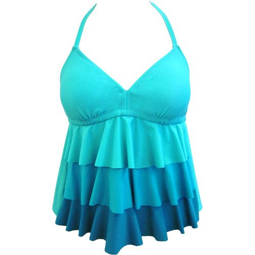 f2f09e59f55 I'm amazed that this cute tankini top came from Walmart... they're ...