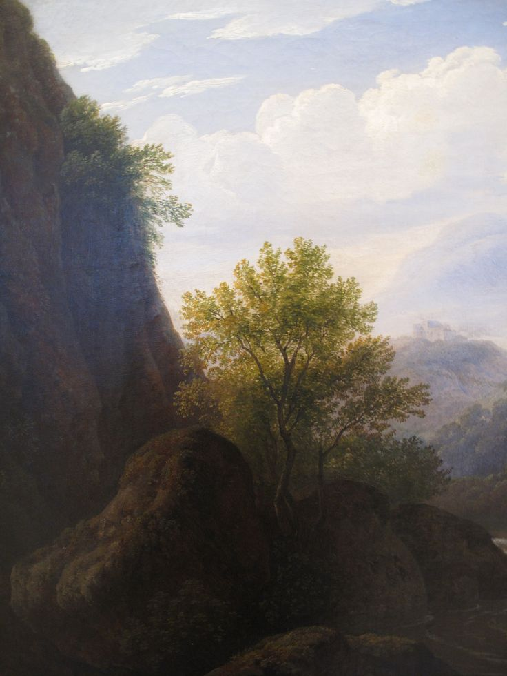 Antonín Mánes - Mountainous landscape (around 1820) #RomanticRealism #painting #Czechia #art