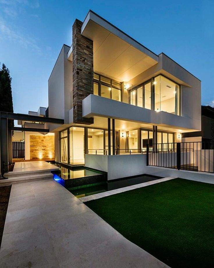 191 mejores im genes de fachadas en pinterest casas for Arquitectura moderna minimalista
