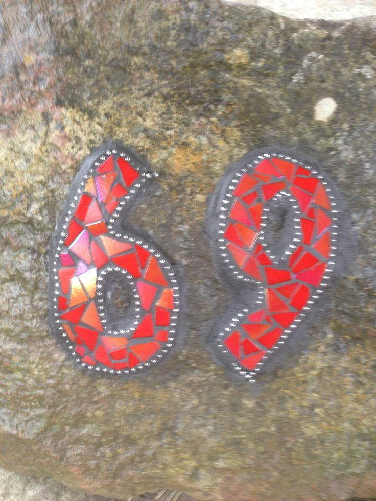 My mosaic house number