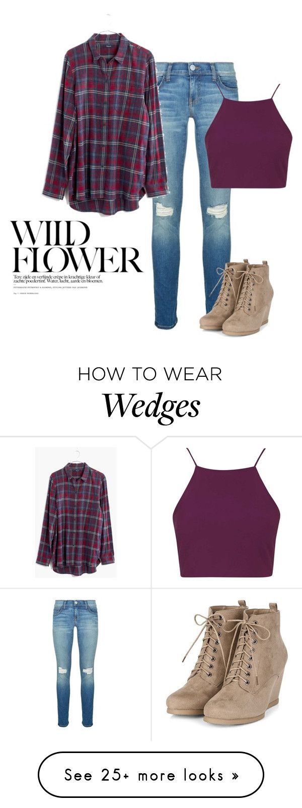 """""""Wild Flower <3"""" by kragrg on Polyvore featuring Rebecca Minkoff, Madewell and Topshop"""
