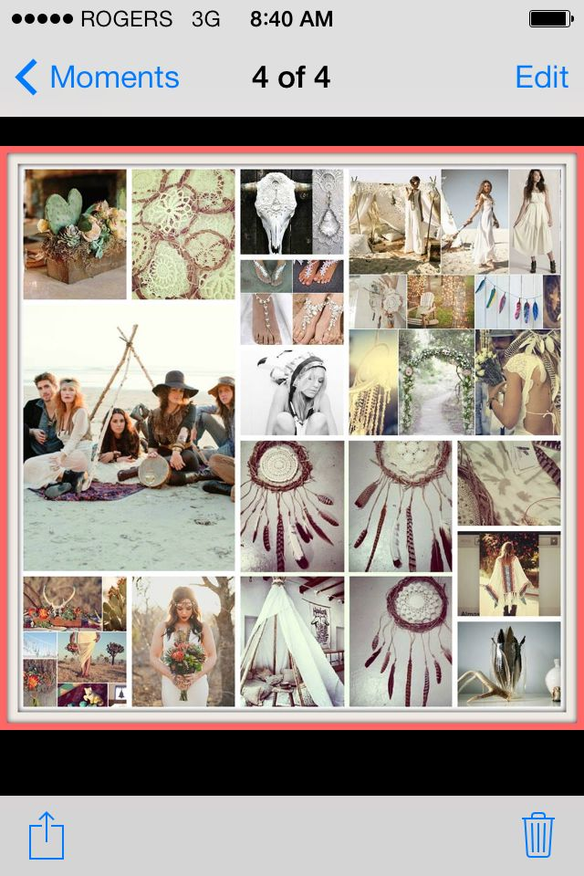 My wedding inspiration board for my bohemian rustic woodlands romance theme wedding