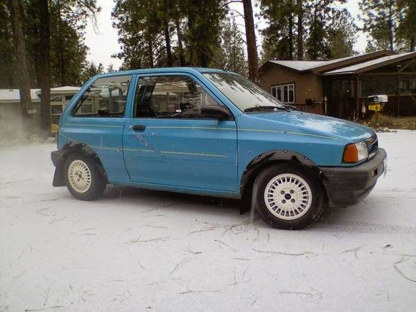Daily Turismo: 2k:  Snow Monster: 1991 Ford Festiva, BP-powered