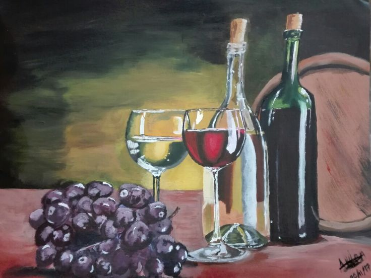 Selling this wine still life for R 1000.00