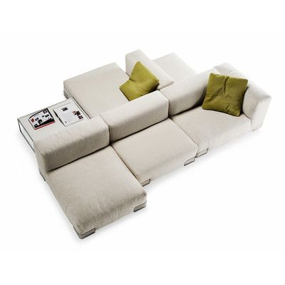 Back-to-back sofas can solve a two-focal-point problem room. Kartell Plastics Duo Modular Sectional   AllModern