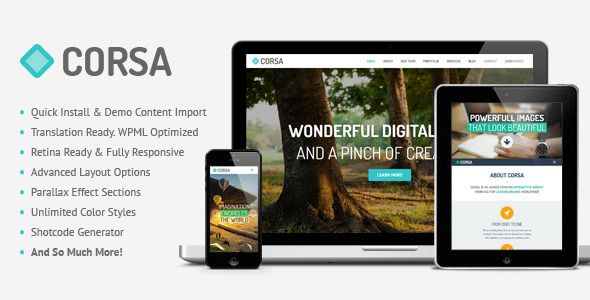 Corsa - Retina Responsive Creative OnePage Theme   http://themeforest.net/item/corsa-retina-responsive-creative-onepage-theme/5902385?ref=damiamio      UPDATE: Version 1.6.1 is available! Check the changelog at the bottom of this page.  Corsa is modern professional and flexible one page parallax WordPress theme, developed with great attention to details. Theme can be used for any type of website: business, corporate, portfolio, products, marketing, etc. You can modify layout, styling, colors…