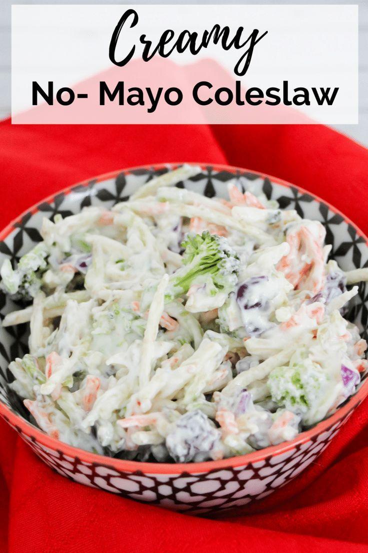An Easy Creamy No Mayo Coleslaw Recipe Made With Greek Yogurt Sour