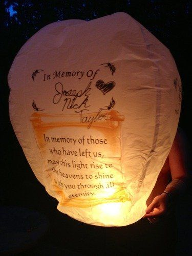 5 Each SKY Lantern -In Memory Of- US Seller -100% Biodegradable Fully Assembled