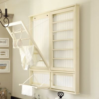 This would be a great space saver to go over the dryer and allow us to hang clothes to dry