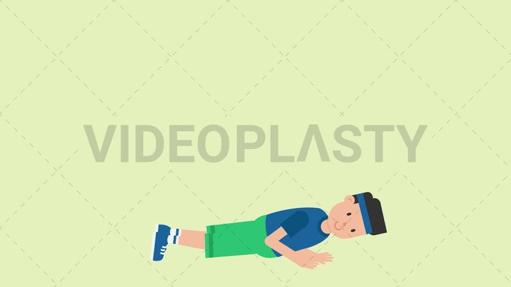 Download: http://ift.tt/2uJkjWN  A man wearing a blue t-shirt green shorts and a blue headband is doing pushups on the floor  Two version are included: normal (with a start animation) and loopable. The normal version can be extended with the loopable version  Clip Length:10 seconds Loopable: Yes Alpha Channel: Yes Resolution:FullHD Format: Quicktime MOV  For more royalty free video assets visit: https://videoplasty.com