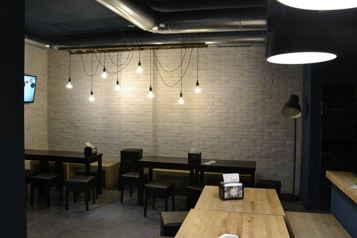 King Coffee Food, Cool Stuff  Industrial design food fast food shop light