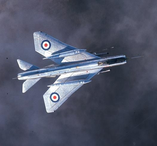 The first Lightning F.6 in service, XR768, of 74 Squadron at Leuchars 1966. ©Crown / IWM RAF-T 6970