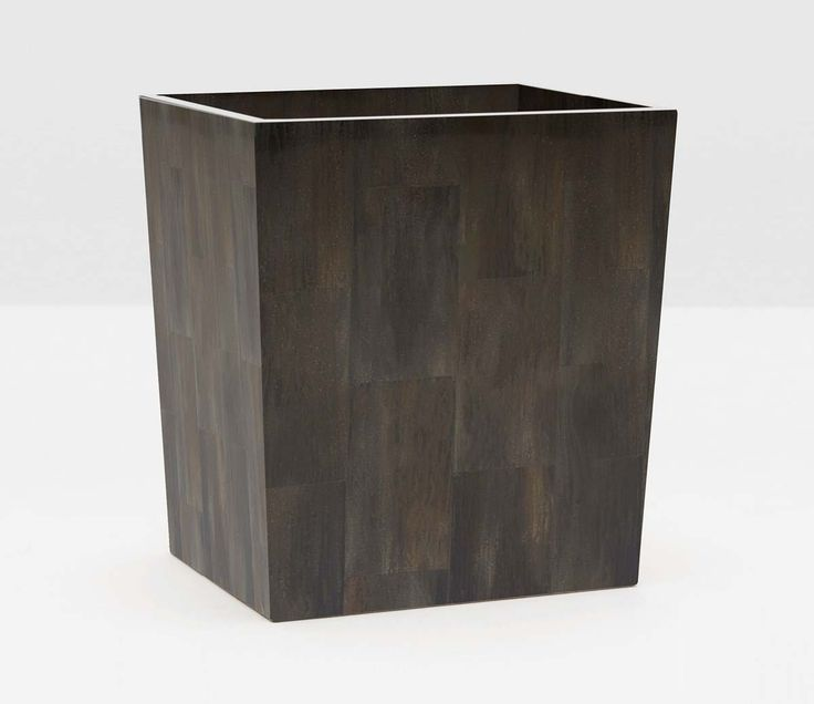 Pigeon & Poodle Arles Rectangular Wastebasket in Dark Faux Horn and Optional Tissue Box  - ON BACKORDER UNTIL DECEMBER 2017 from The Well Appointed House