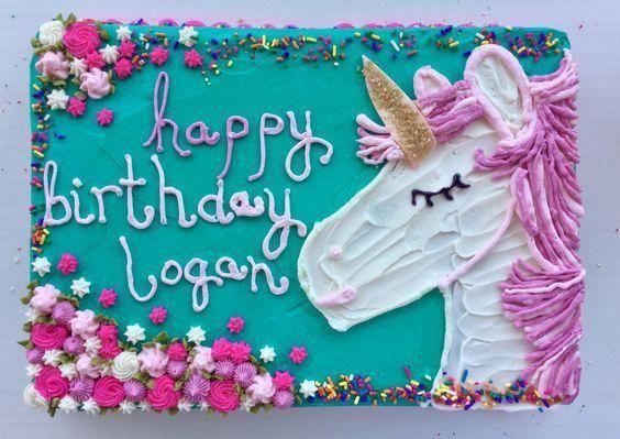 Unicorn Sheet Cake von einem Ort namens Bethany Buttercream Cake #unicorncake   – unicorn cake ideas