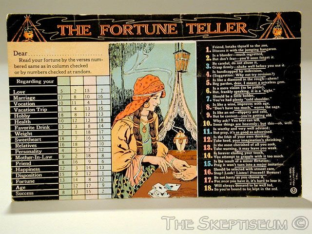 Vintage Your Future Wife and Children Fortune Telling Arcade Cards Set of 6 Lot A