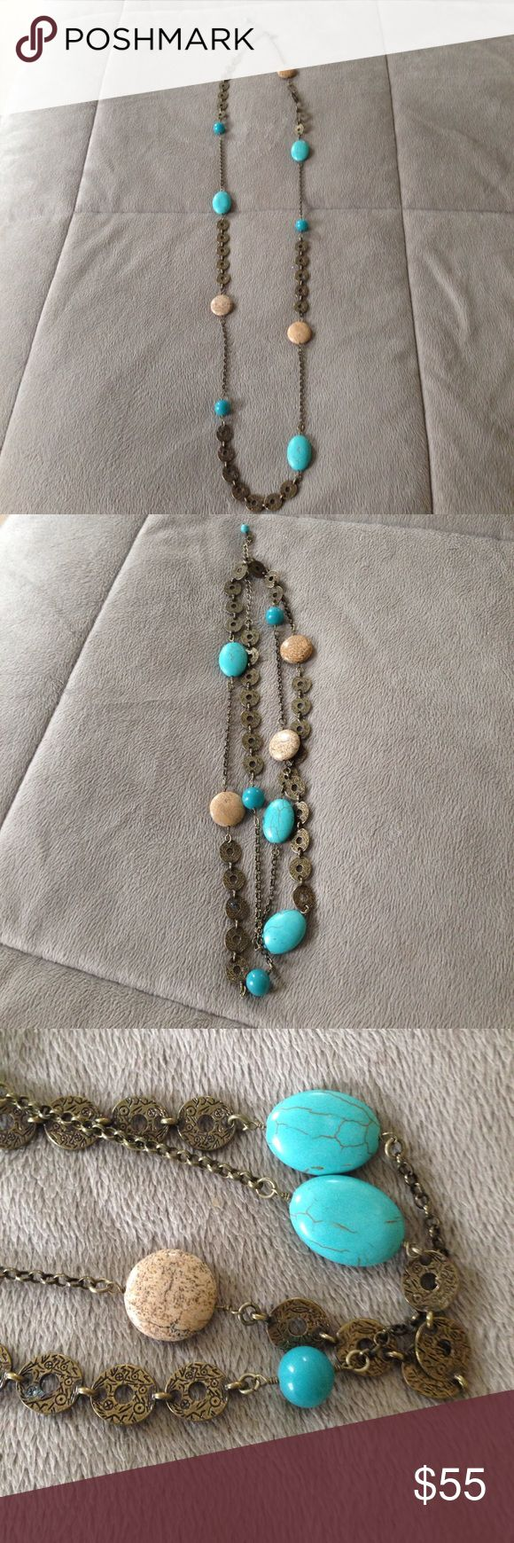 Lia Sophia necklace Authentic Lia Sophia stone necklace. Can be worn long or doubled for a layered look. Excellent condition. Never wore it. Mint! Lia Sophia Jewelry Necklaces