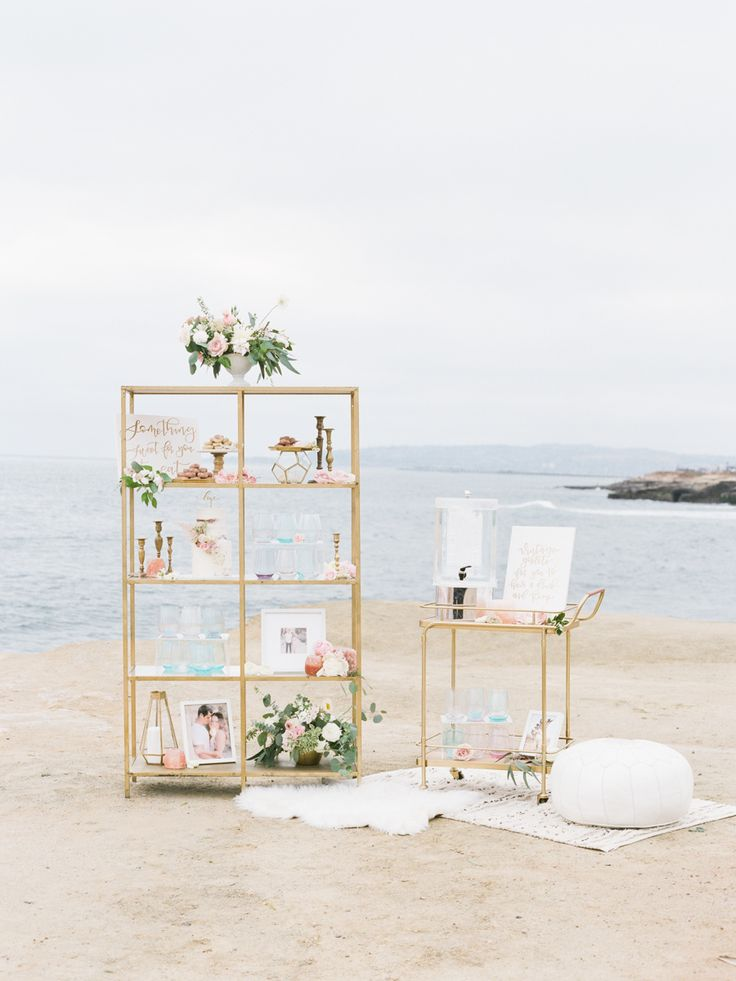 Cliffside wedding decor: Photography: Tenth and Grace - http://www.tenthandgrace.com/
