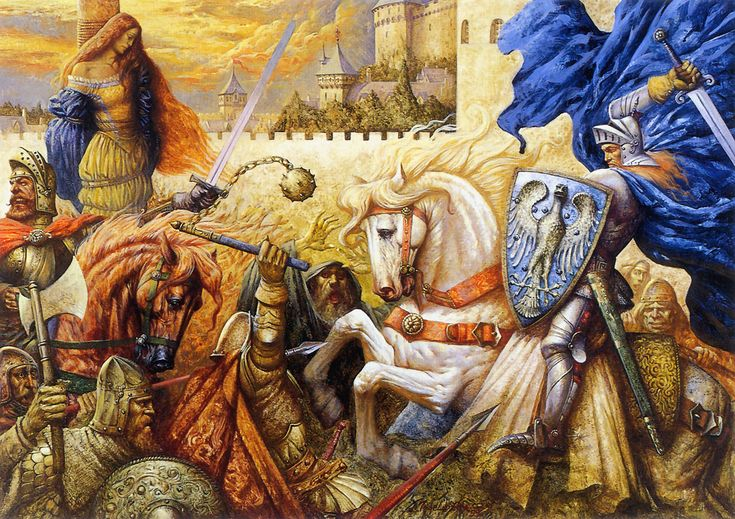 Paintings of king arthur and the knights of the round - King arthur and the knights of the round table ...