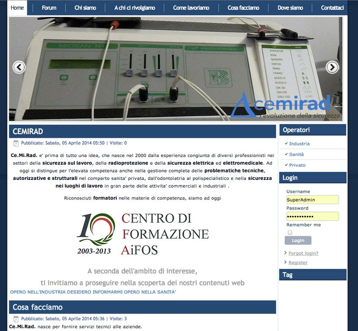 Web site with CMS joomla