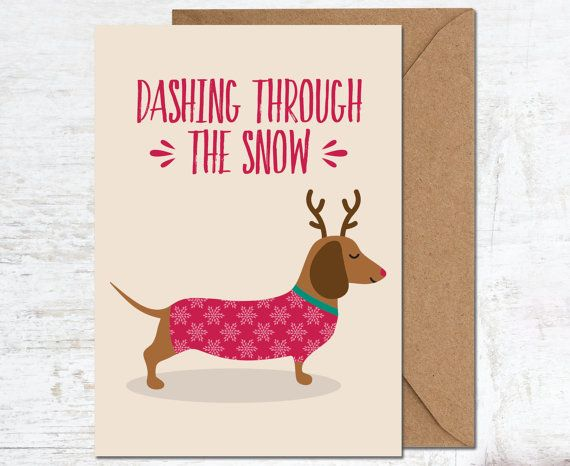 Sausage Dog Christmas Card, Dachshund Christmas Card, Christmas Card, Animal Christmas Card, Holiday Card, Merry Christmas Card, Boyfriend Christmas Card, Girlfriend Christmas Card, Christmas Card Set, Christmas Card Pack, Cute Christmas Card Send a lovely greetings card - perfect for the festive season! This Christmas card is blank inside for your own message, and comes with a kraft envelope. ------------------------------------------- ♥ CARD SIZE ♥ A6 size: 105x148 mm ---------------...