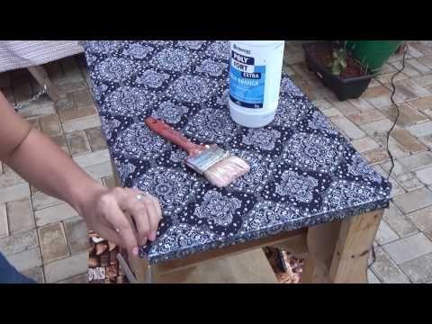 Como Aplicar tecido em Móveis (forração de móvel com Tecido) - YouTube
