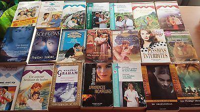Lot De 21 Livres De Poche , Collection  Harlequin  Blanche Et Divers Gros Vol
