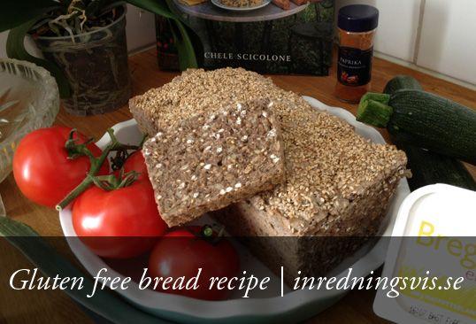 Gluten free bread recipe | http://inredningsvis.se/glutenfritt-brod-recept-jons-glutenfria-superbrod/