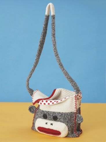 Monkey Shoulder Bag | Yarn | Free Knitting Patterns | Crochet Patterns | Yarnspirations
