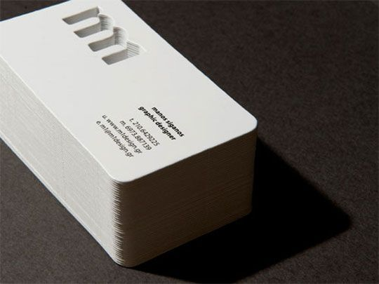 100 best 100 creative white business cards for your inspiration manos siganos 17 cool and clean white business cards colourmoves