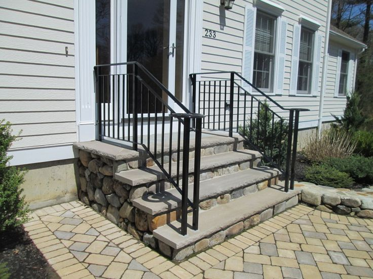 Creation iron design everett massachusetts ironwork - Wrought iron handrails for exterior stairs ...