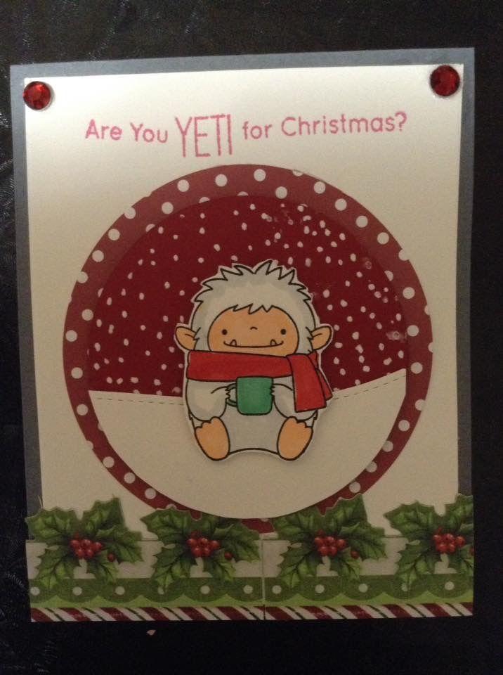 Yeti Christmas card