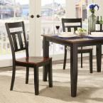 Cherry Hill Rich Cherry and Black Wood Dining Chair (Set of 2), Rich Cherry + Black