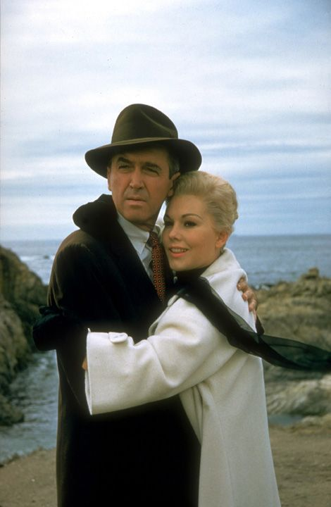 James Stewart & Kim Novak in Alfred Hitchcock's 'Vertigo', 1958 - Although Vertigo is considered a 'cult classic' today; it met with some negative reviews & poor box office receipts upon it's release, and was the last collaboration between James Stewart & Hitchcock. In 'Sight and Sound' decade polls; Vertigo was voted best ever film in the 2012 Sight & Sound, film critics poll.