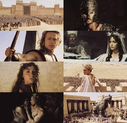 an essay on the movie troy Troy, based on the iliad, has proven to be a very loose adaptation of homer's classic and one cannot help noticing the major differences between the book and the movie one of the most noticeable differences between the book and the movie is the absence of the gods.