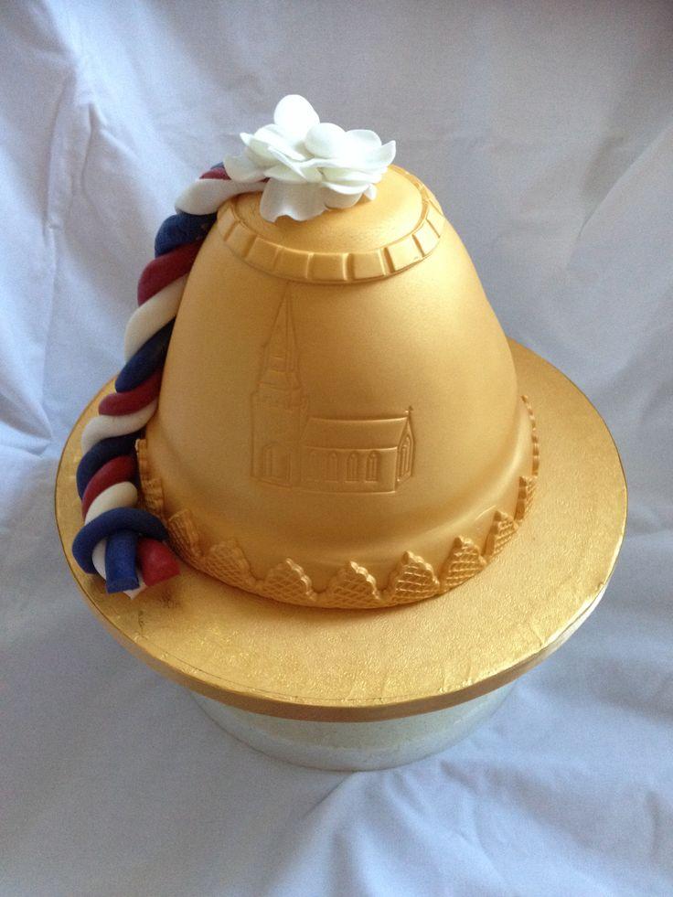 Golden bell for a church bell ringer.