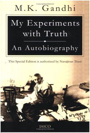 #MyExperimentsWithTruth ? the autobiography of #MohandasKaramchandGandhi (or Mahatma Gandhi) covers his life from early childhood through to 1920, and is a popular and influential book.