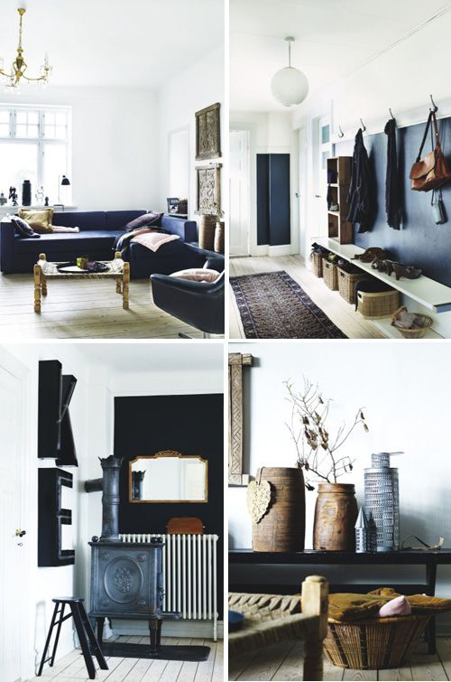 Danish interior from Boligmagasinet via The Style Files