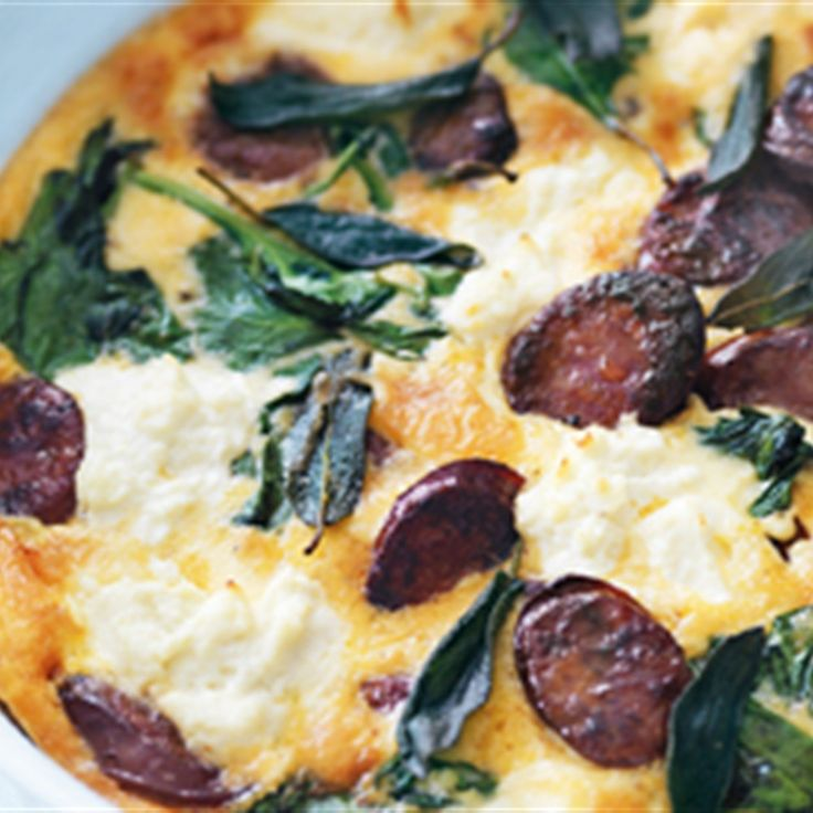 Try this Chorizo, Spinach and Ricotta Frittata recipe by Chef Donna Hay. This recipe is from the show Donna Hay – Fast, Fresh, Simple.