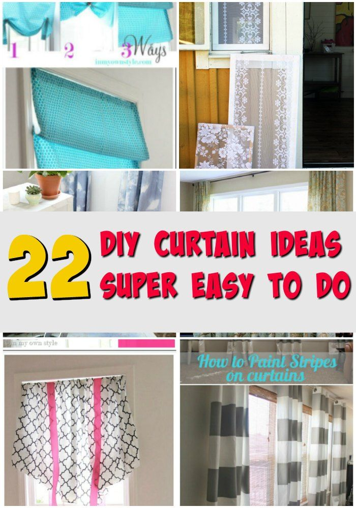 22 Easy And Classy Diy Curtain Ideas To Dress Up Your Home Diy