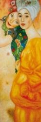 Gustav Klimt - Girlfriends Or Two Women Friends, 1916 - 1917 - Stretched Canvas Prints - buy posters online with 1art1