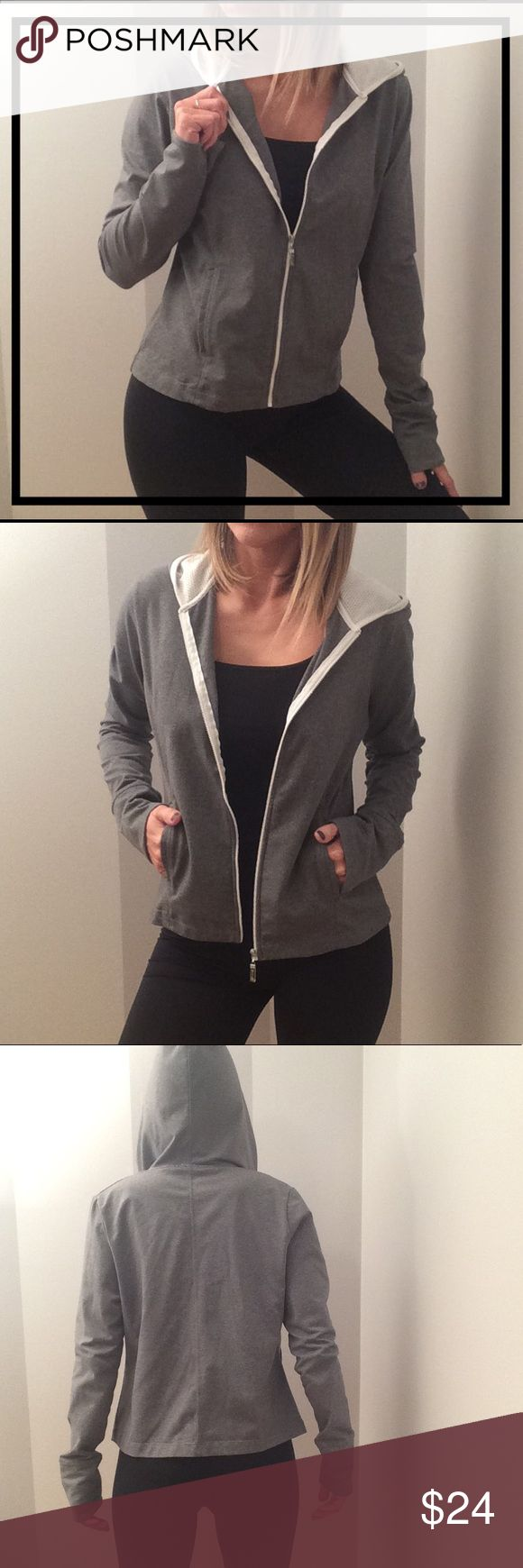 Gray Athletic Jacket Hoodie GREAT CONDITION! Like New. Champion Elite Jackets & Coats
