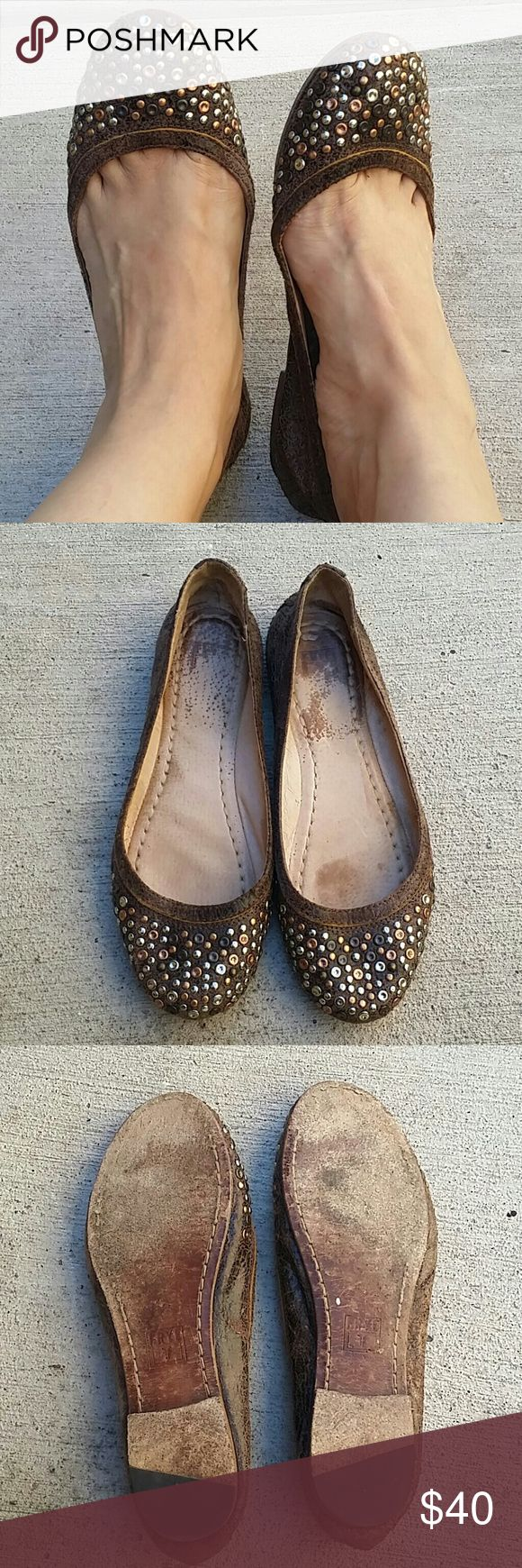 FRYE Flats Cutest! Good condition, previously loved but very well taken care of :)still have lots of life Frye Shoes Flats & Loafers