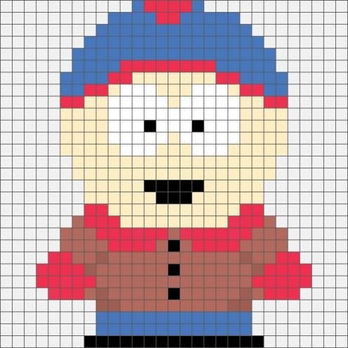 South Park Stan Marsh Hama Bead  / Cross-stitch pattern