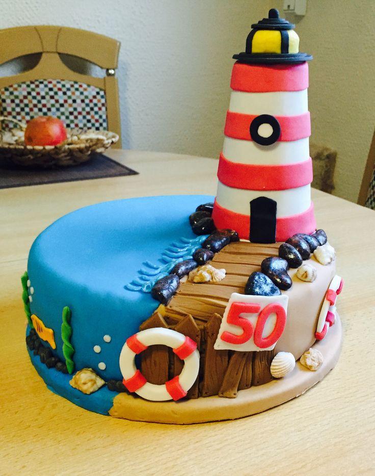 Lighthouse cake, Leuchtturm Torte