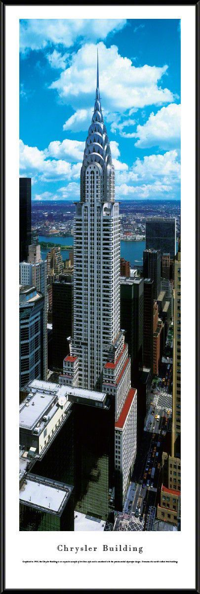 Chrysler Building Panoramic Picture Framed(Day)