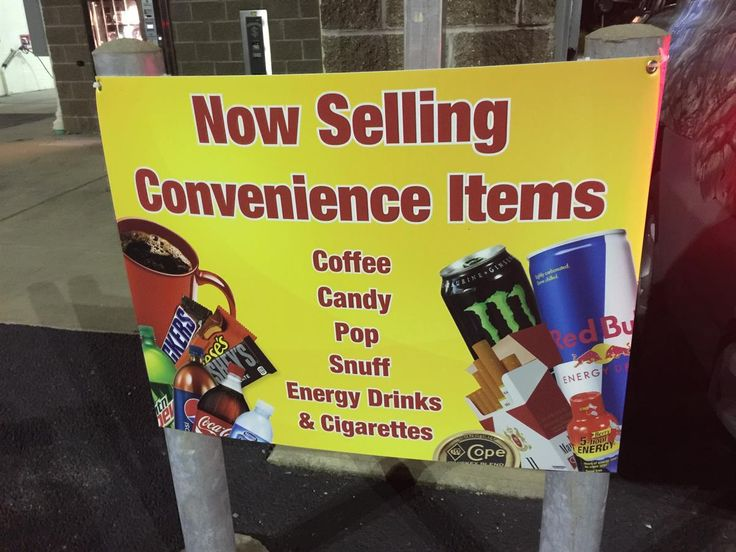Durable corrugated plastic sign for outside of a convenience store. #OutdoorSign #Pittsburgh #MrSign