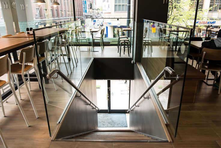 The entrance to our Burger Restaurant in Helsinki, Finland. #interior #restaurant