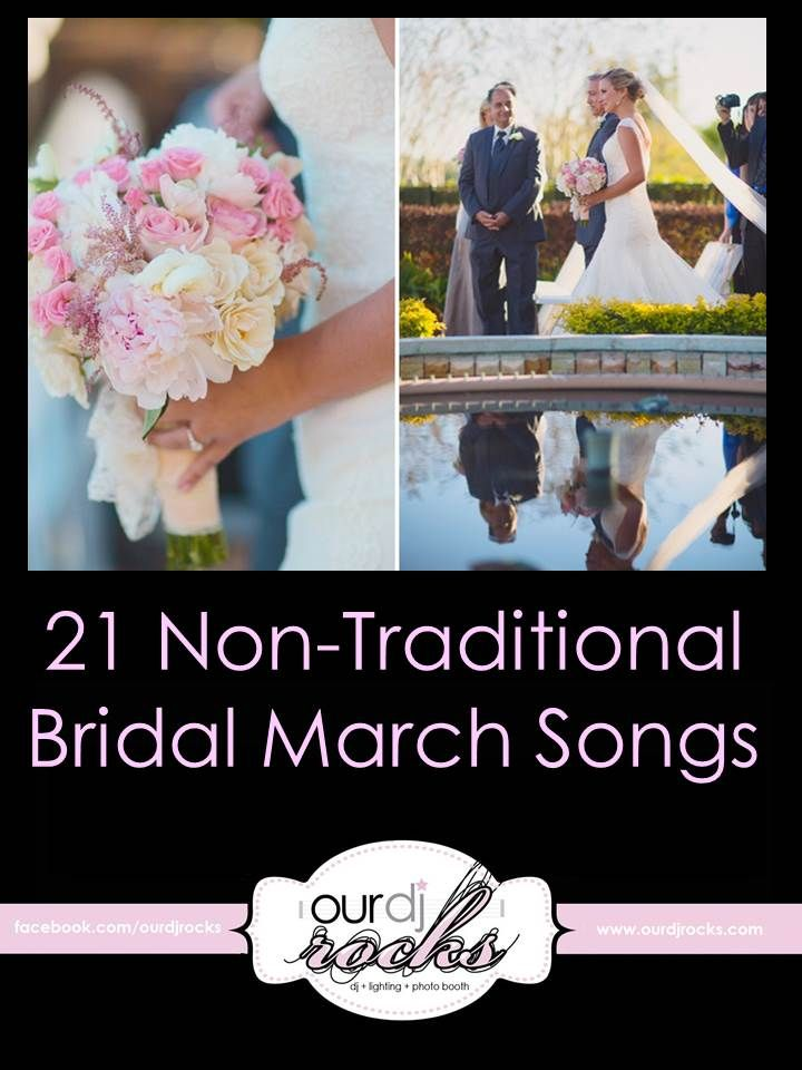21 Non-Traditional Bridal March Songs, Unique Wedding Music, Unique bridal march, unique walking down the aisle songs, songs for walking down the aisle #wedding #music #orlandoweddingdj www.ourdjrocks.com/blog photo by Binary Flips Photography